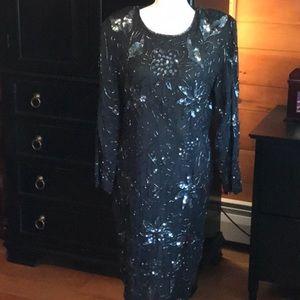Vintage full beaded dress